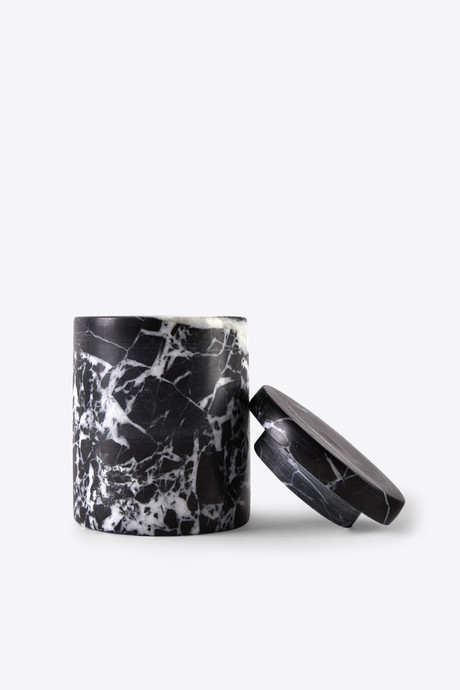BLACK MARBLED CANISTER 3127