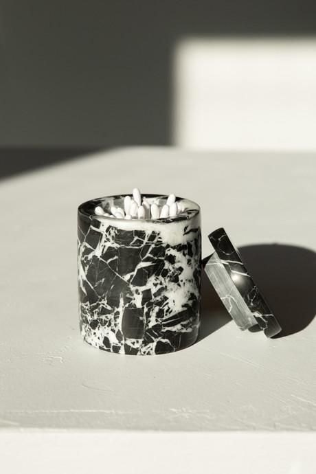 Black Marbled Canister 3127 Black 4