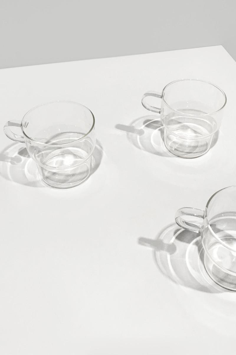 Clear Glass Mug 3135 White 1