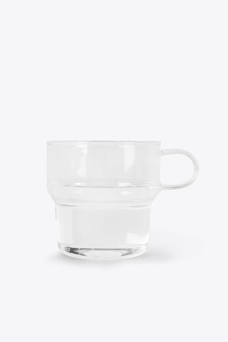 Clear Glass Mug 3135 White 3