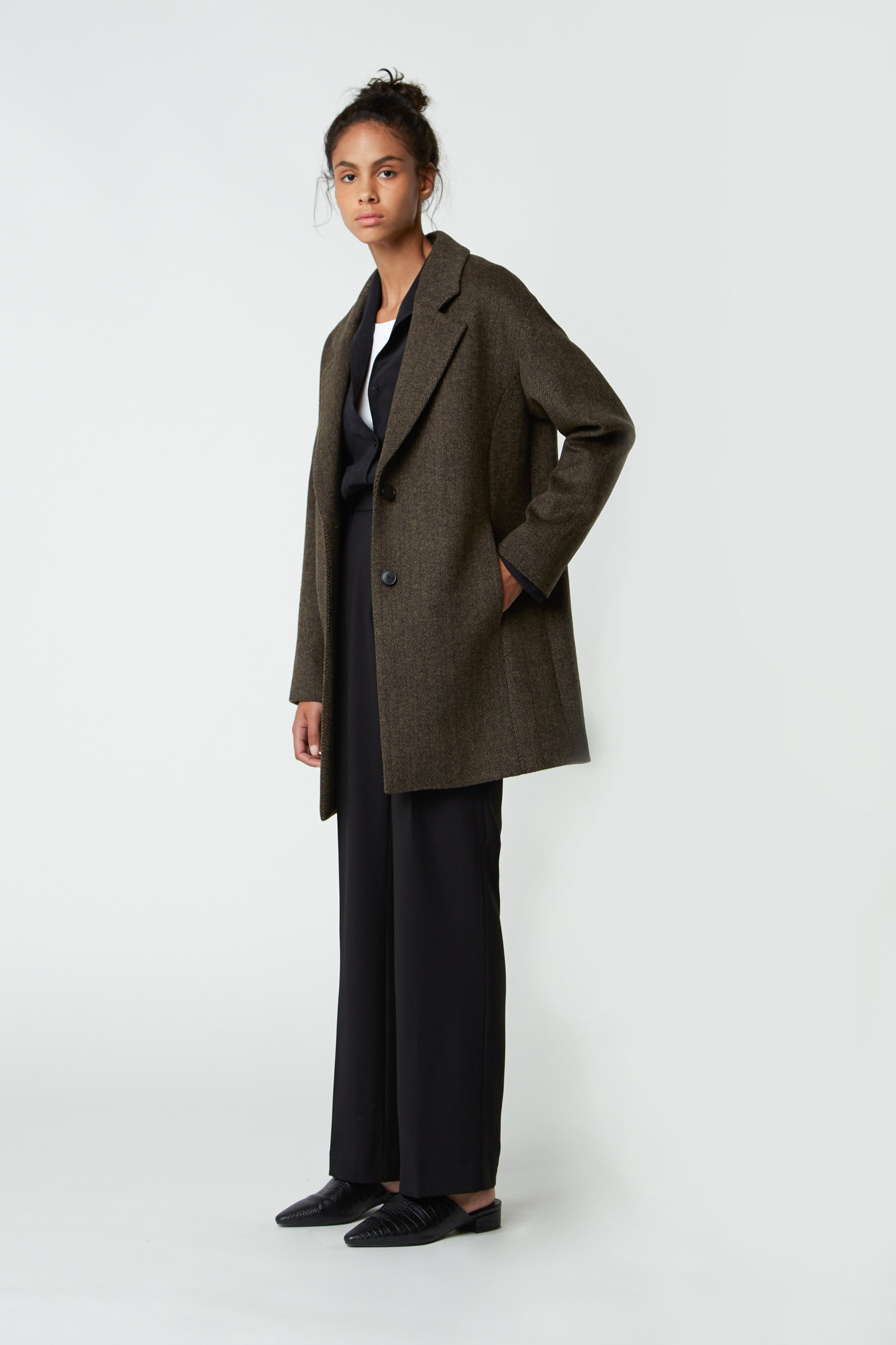 Coat 1527 Brown Herringbone 10