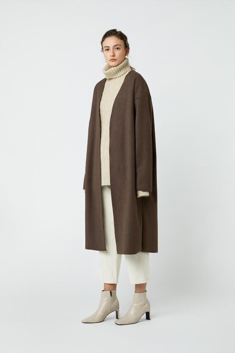 Coat J008 Brown 3