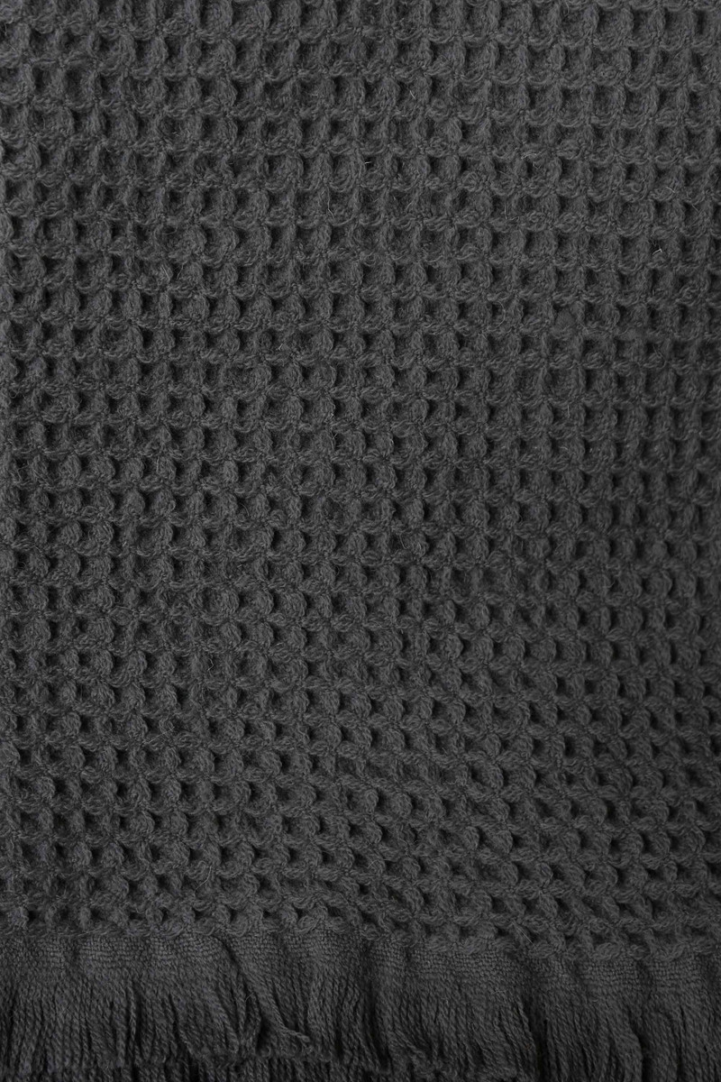 Dark Gray Wool Throw 3126 Dark Gray 3