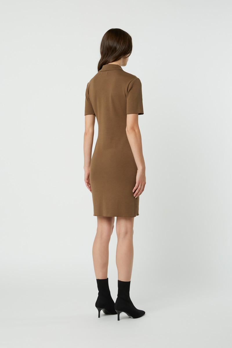 Dress 2835 Brown 4