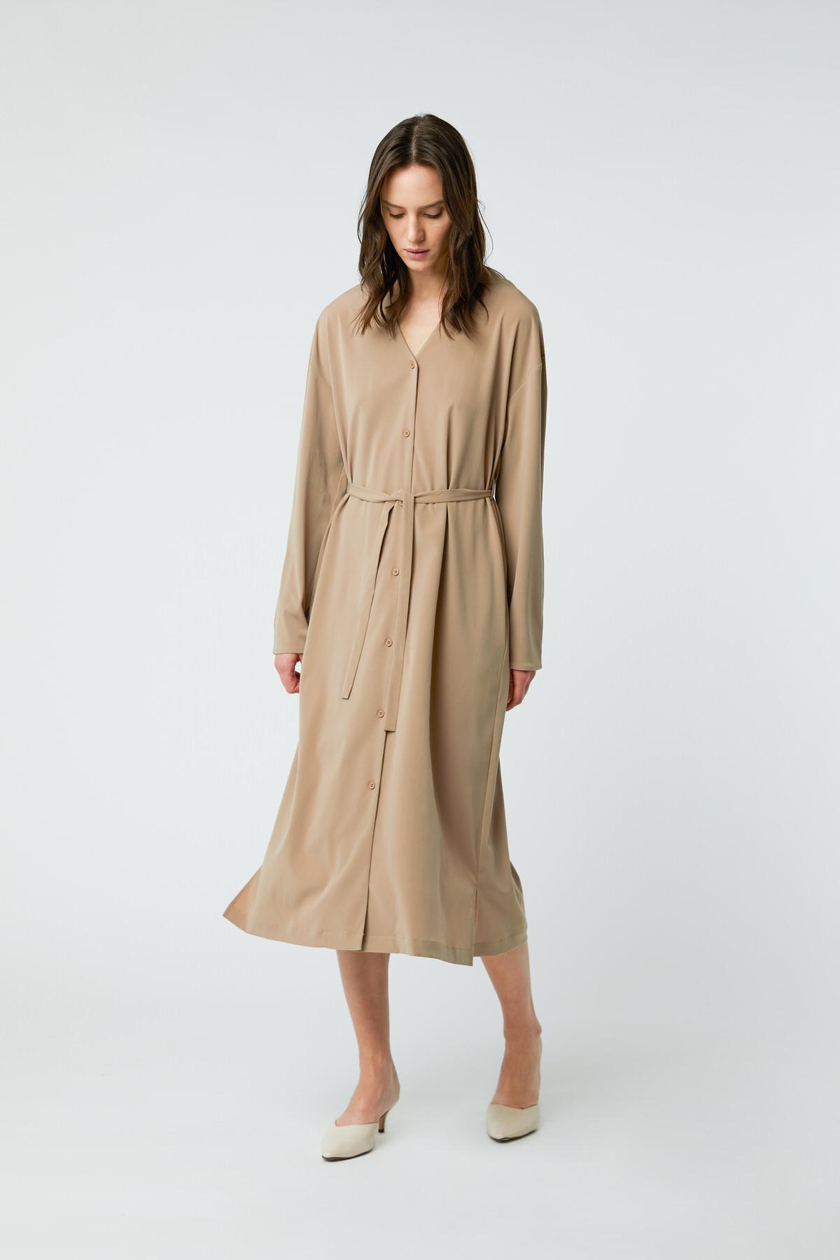 Dress 2958 Taupe 1
