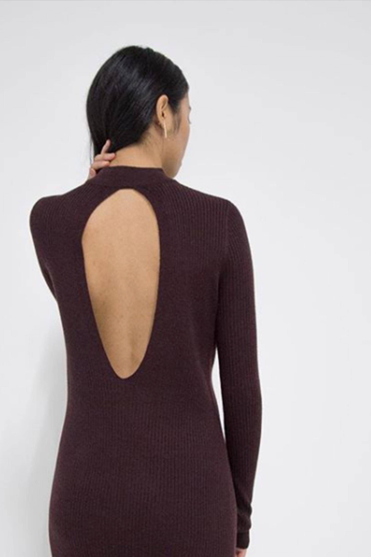 Dress 3184 Burgundy 1