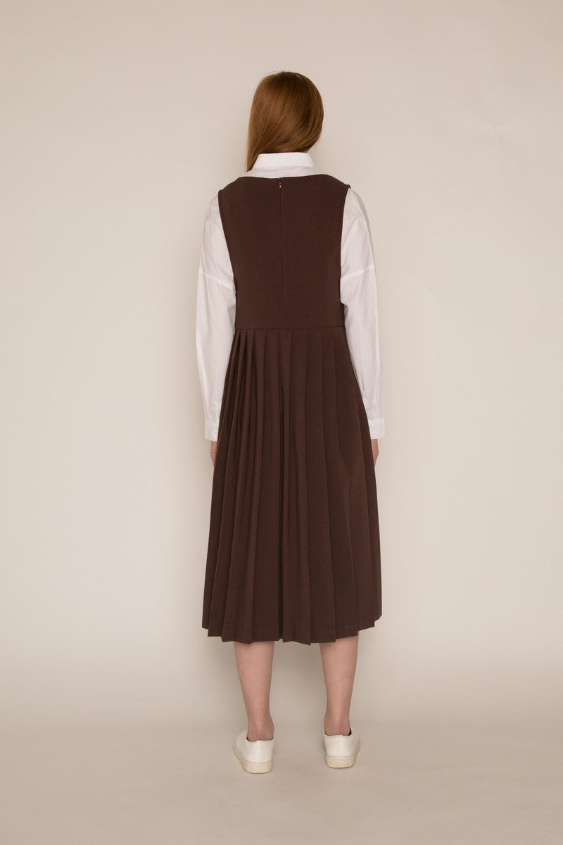 Dress H369 Brown 4