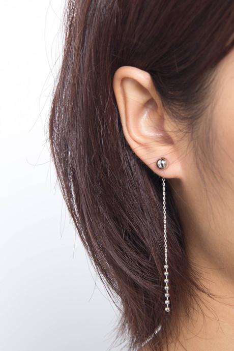 Earring H047 Silver 2