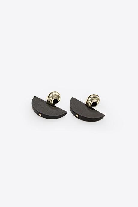 Earring H085 Black 2