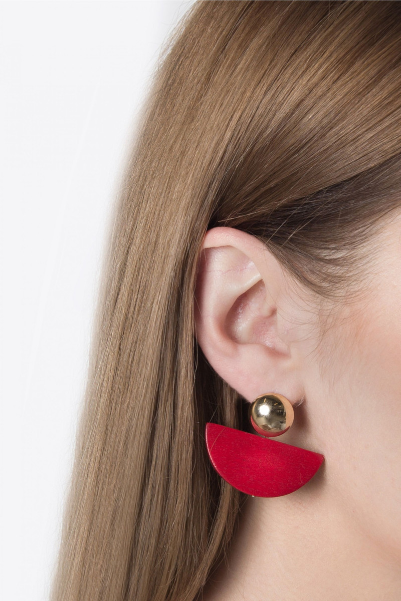Earring H085 Red 3