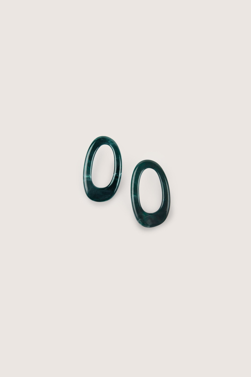 Earring H228 Green 1