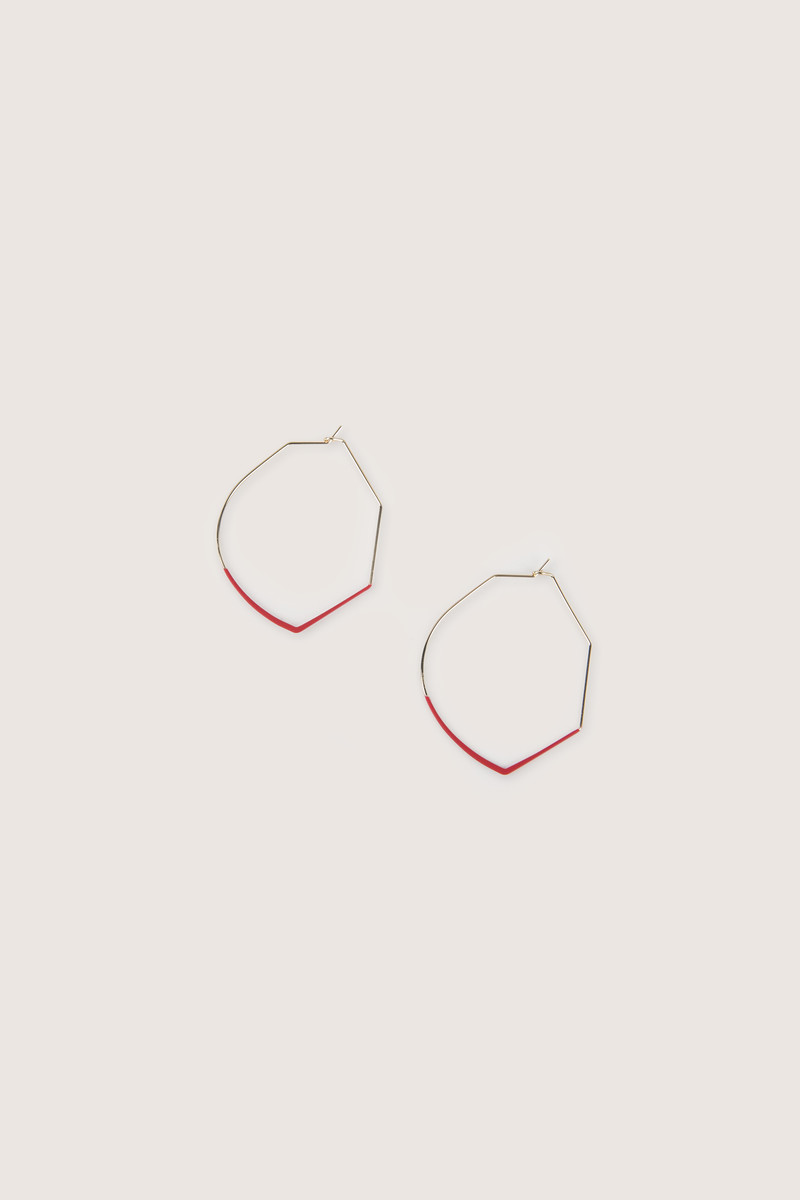 Earring H247 Red 1