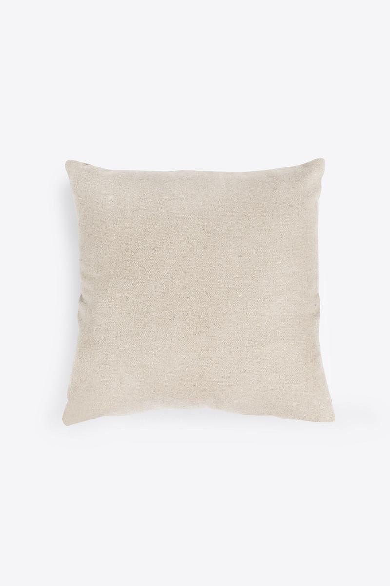 Felt Throw Pillow 2336 Oatmeal 3