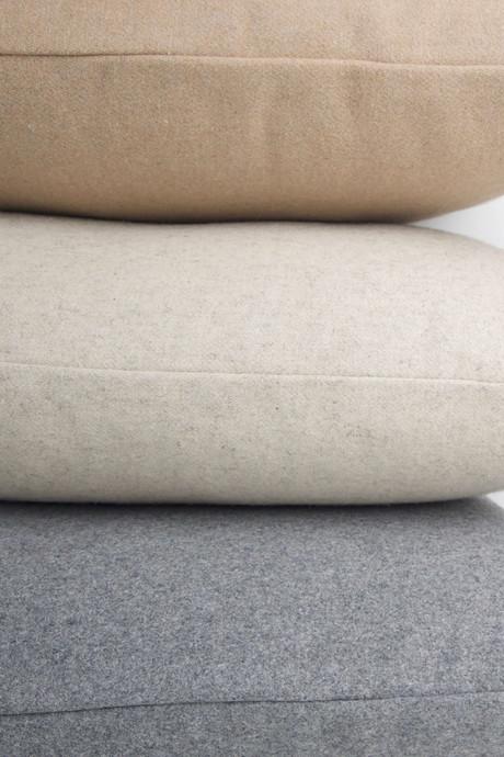 Felt Throw Pillow 2336 Oatmeal 5