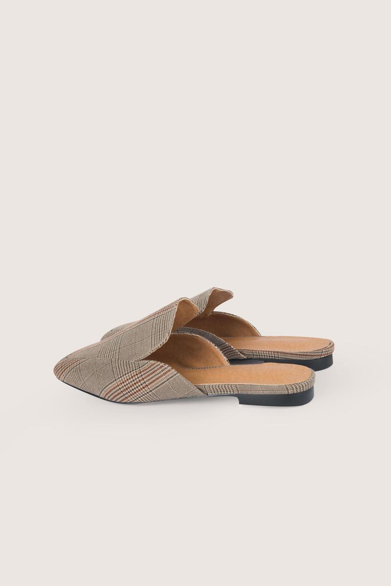 Flat Mule H006 Beige 3