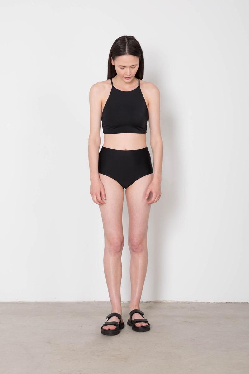 High Waisted Bikini Bottom 8027 Black 3