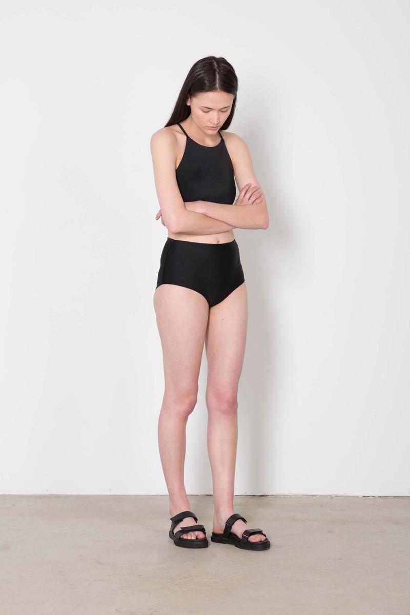 High Waisted Bikini Bottom 8027 Black 4