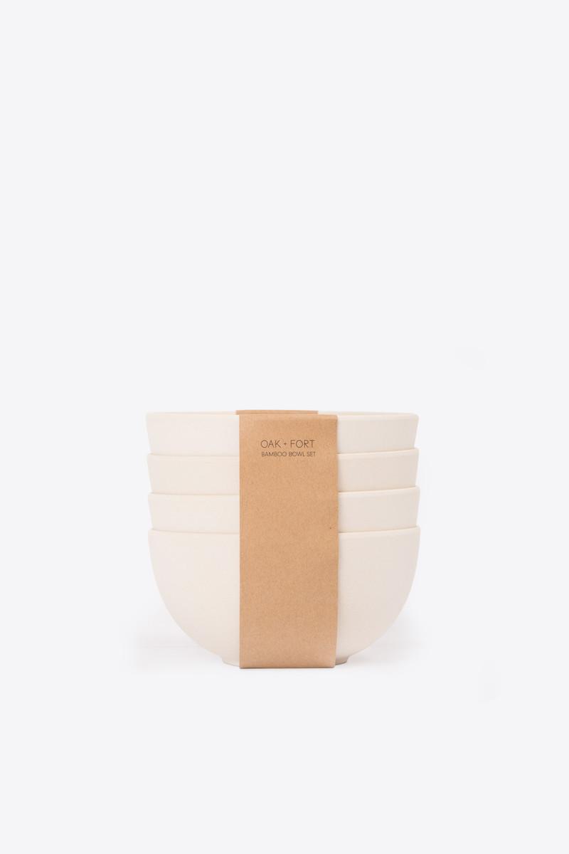 Large Bamboo Bowl Set 2856 Cream 1