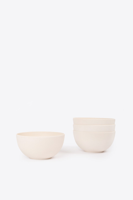 Large Bamboo Bowl Set 2856 Cream 2