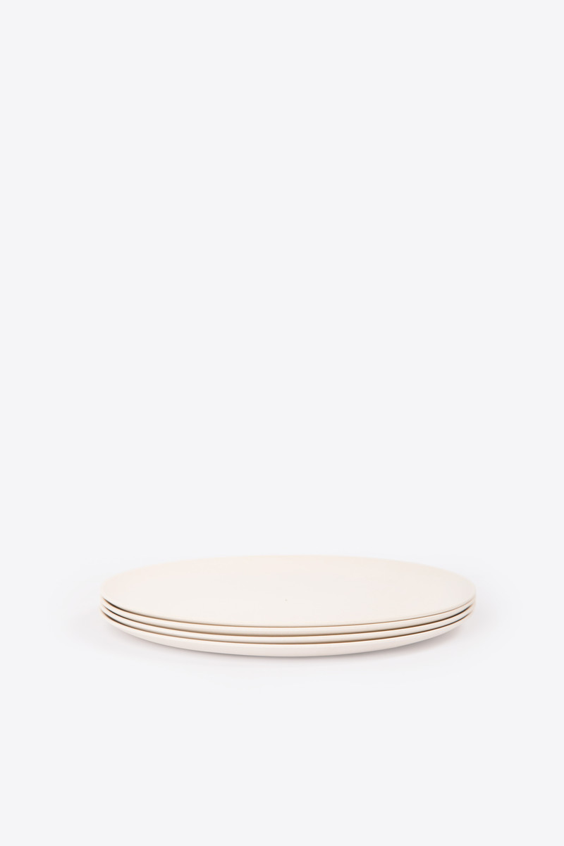 Large Bamboo Plate Set 2860 Cream 3