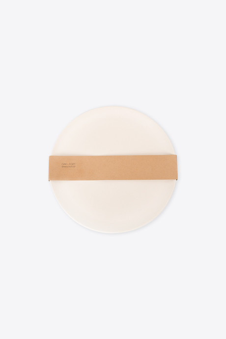 Large Bamboo Plate Set 2860 Cream 4