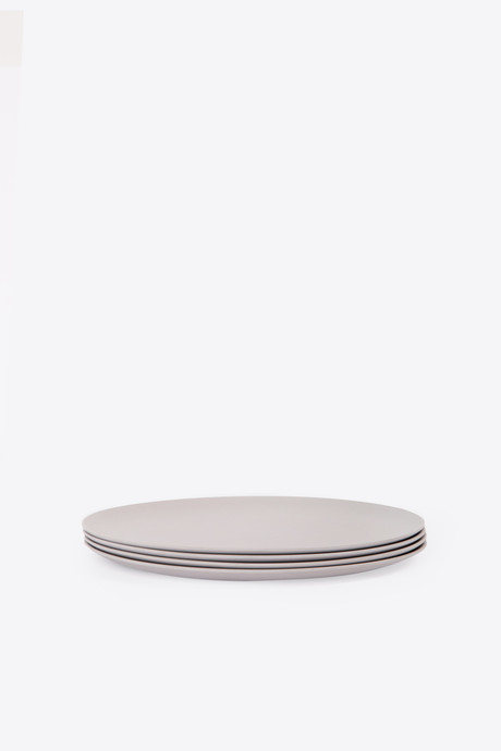 Large Bamboo Plate Set 2861 Gray 2