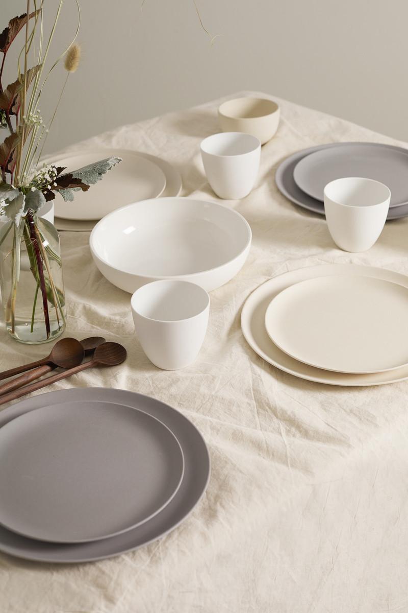 Large Bamboo Plate Set 2861 Gray 5