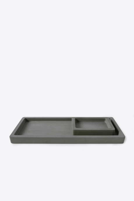 Large Cement Tray 3124 Dark Gray 4