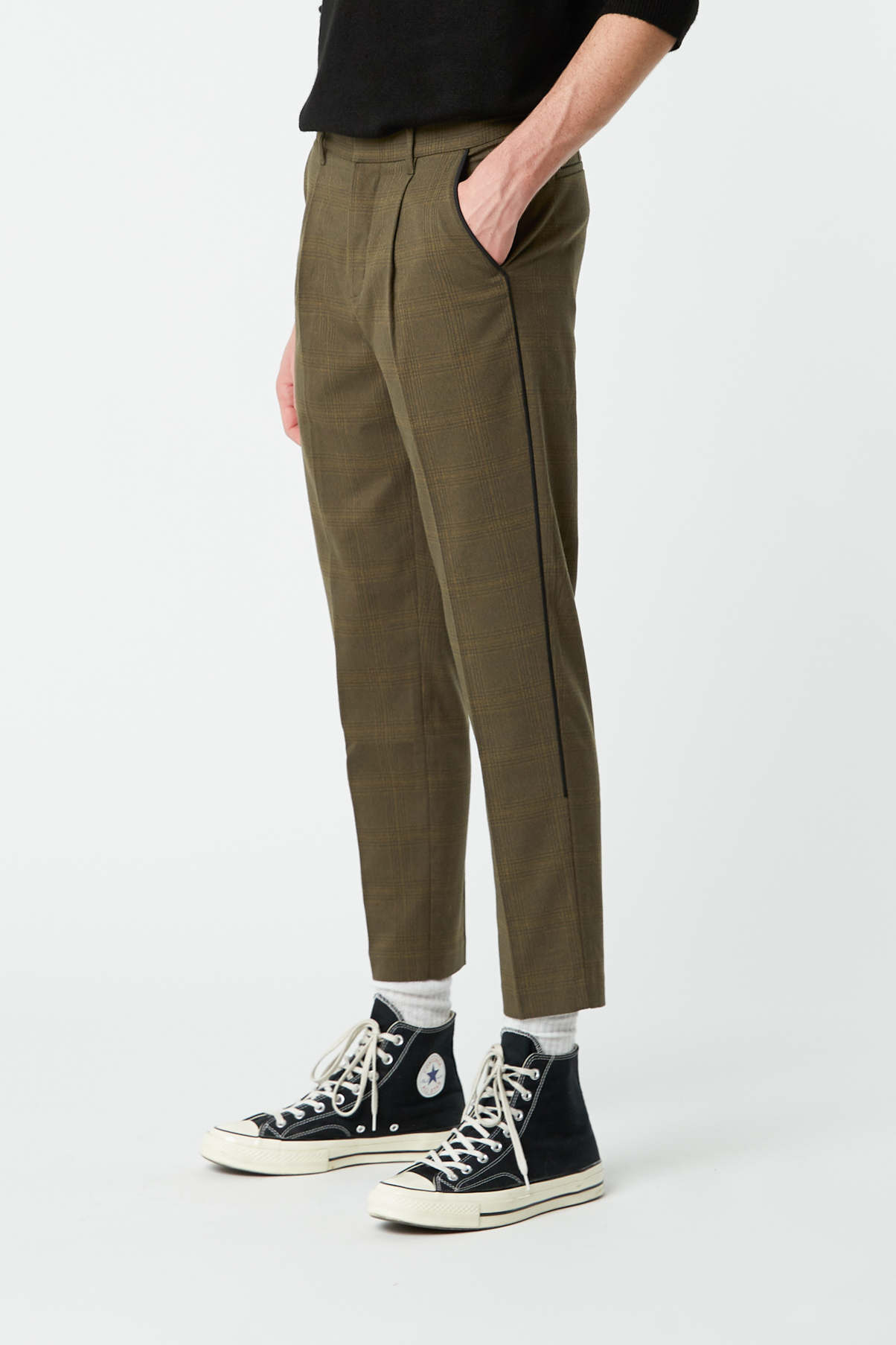 Pant 2373 Olive Check 1