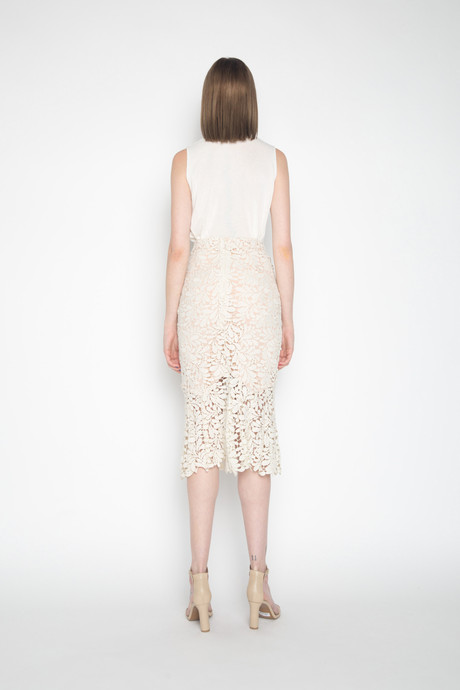 Skirt H044 Cream 4