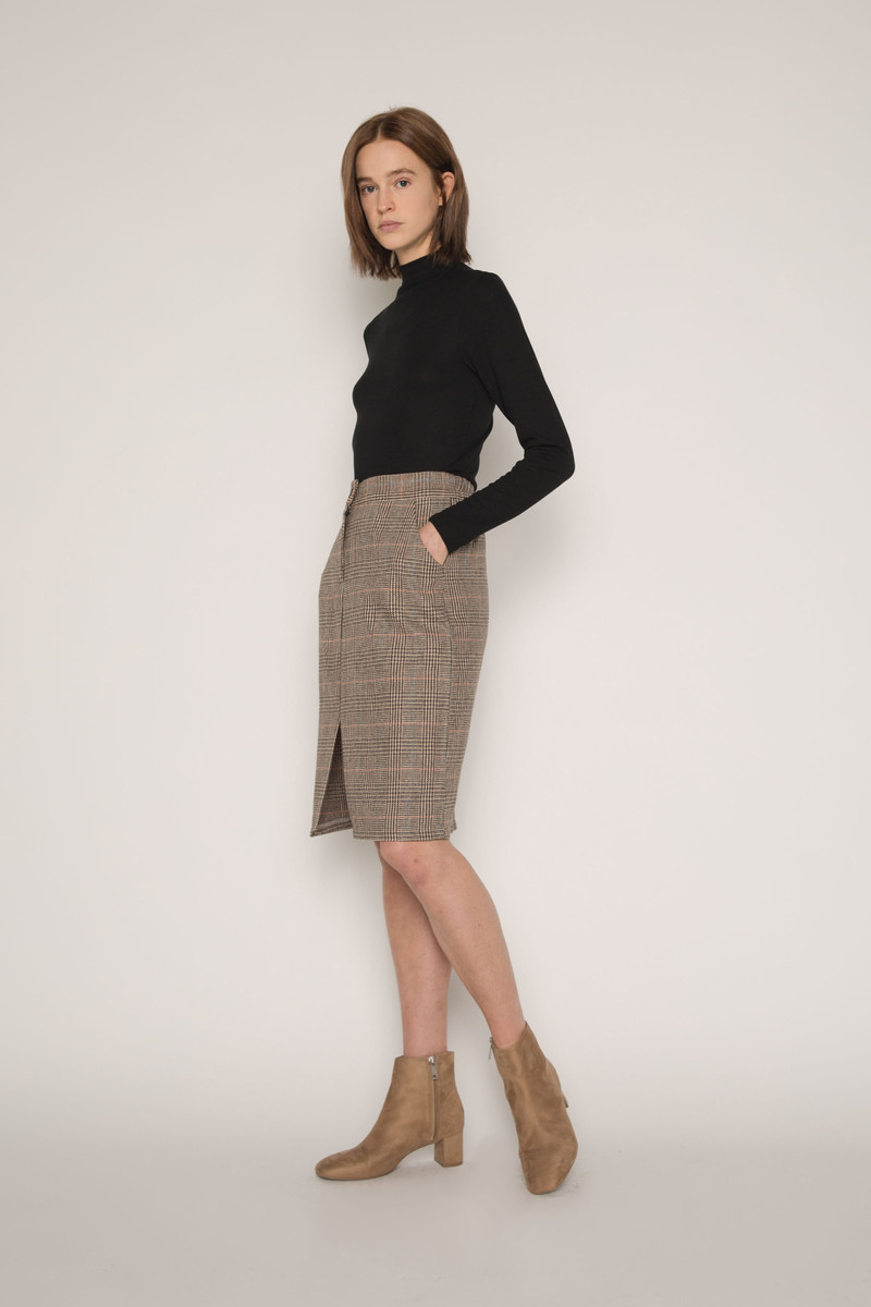 Skirt H130 Brown 3