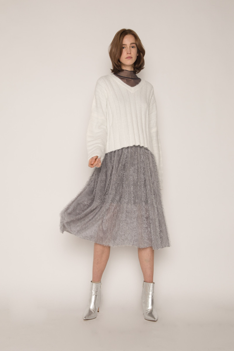 Skirt H168 Gray 2