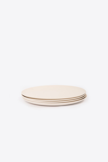 Small Bamboo Plate Set 2858 Cream 2