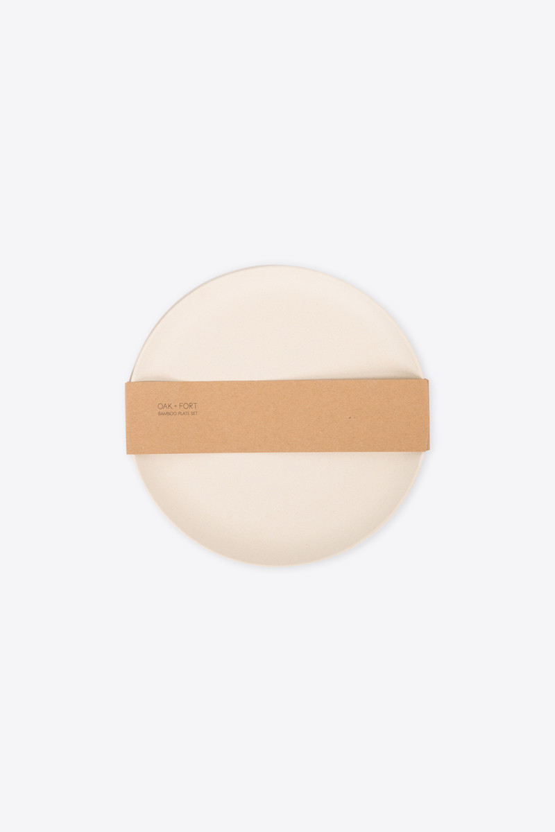 Small Bamboo Plate Set 2858 Cream 4