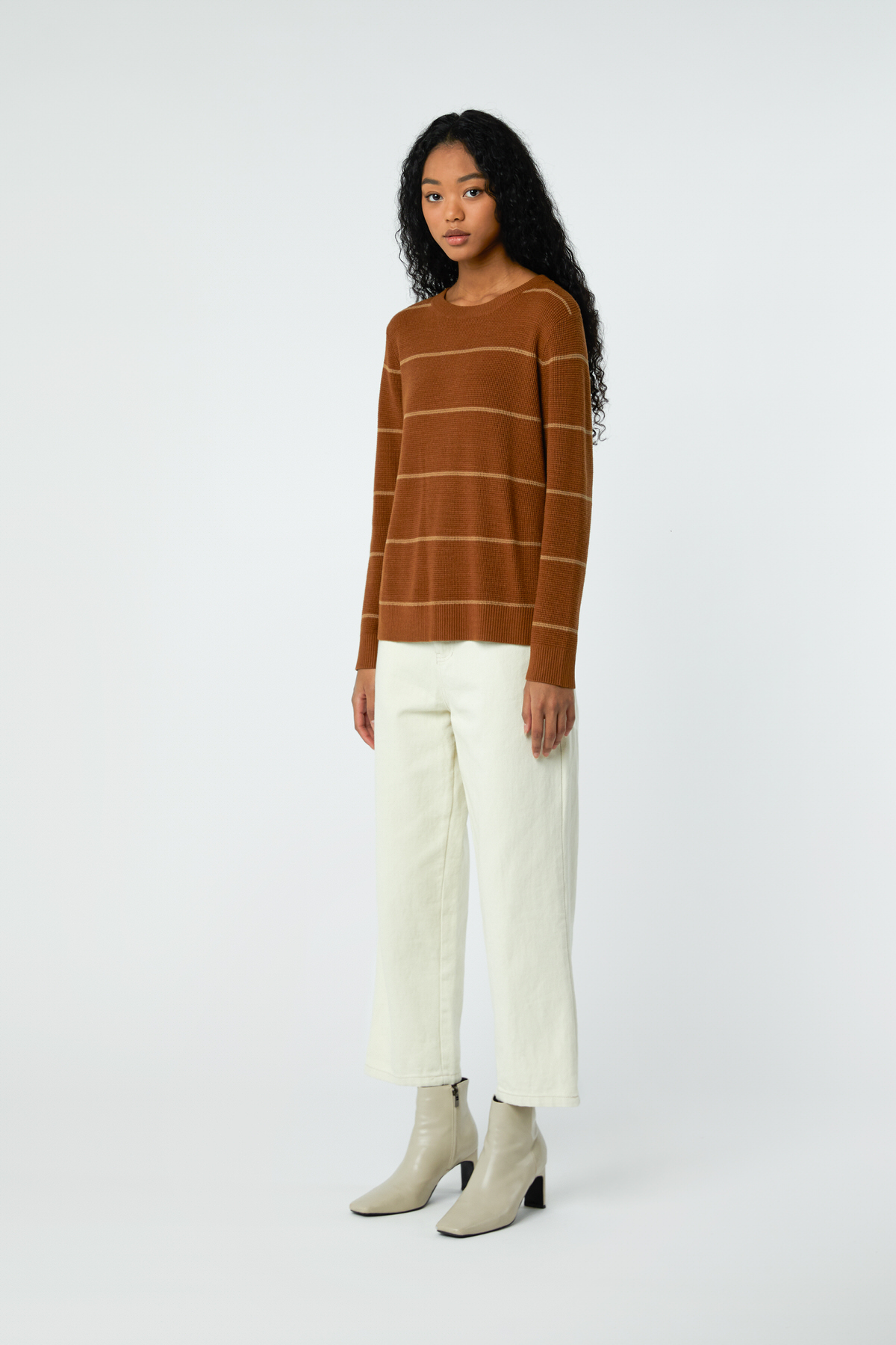 Sweater 2427 Brown Stripe 2