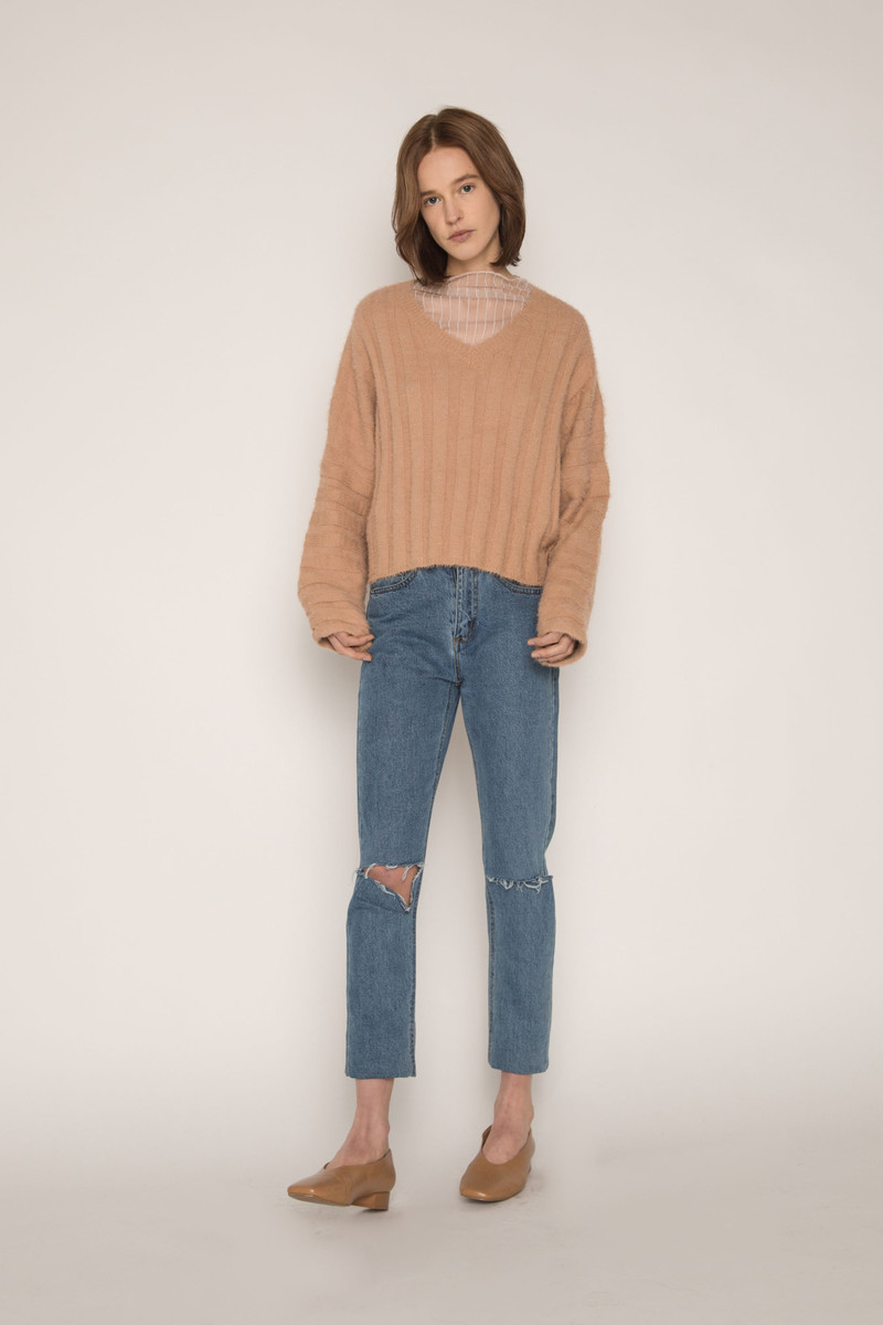 Sweater H052 Camel 3