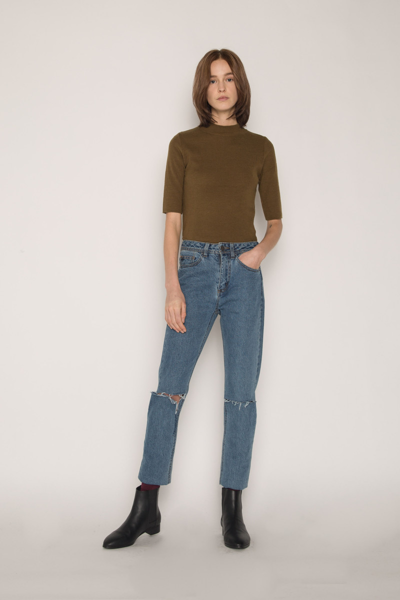 Sweater H058 Olive 2