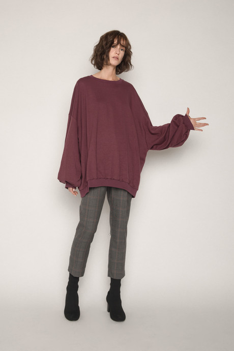 Sweater H324 Wine 3
