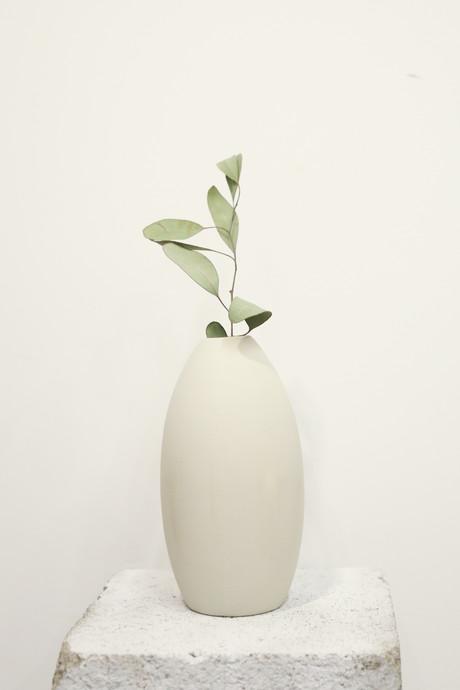 Tall Oval Vase 3129 Gray 5