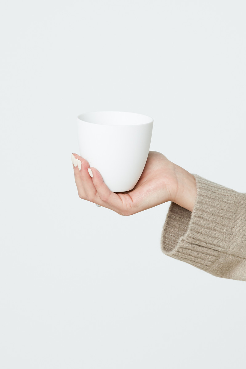 Tapered Porcelain Cup 2941 White 1
