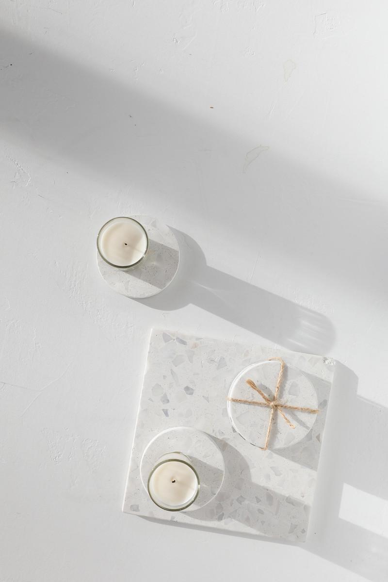 White Terrazzo Trivet 2915 White 1