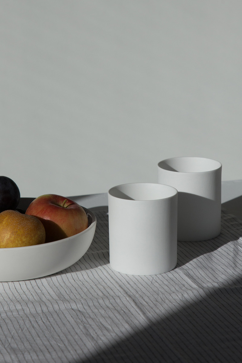 Wide Porcelain Cup 2940 White 1