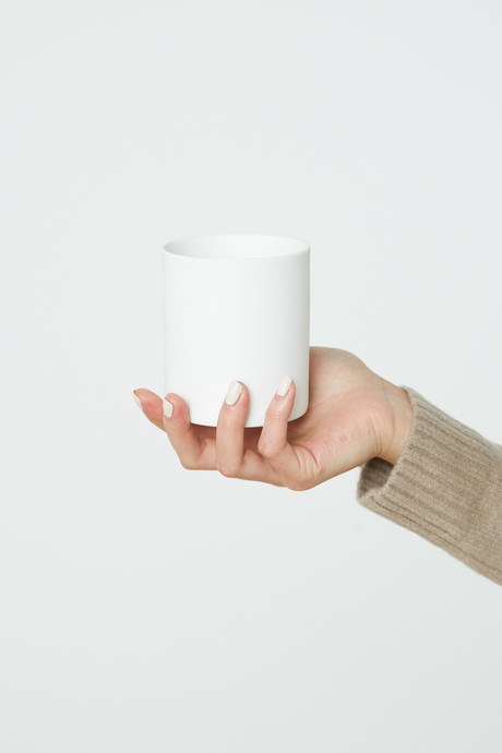 Wide Porcelain Cup 2940 White 2