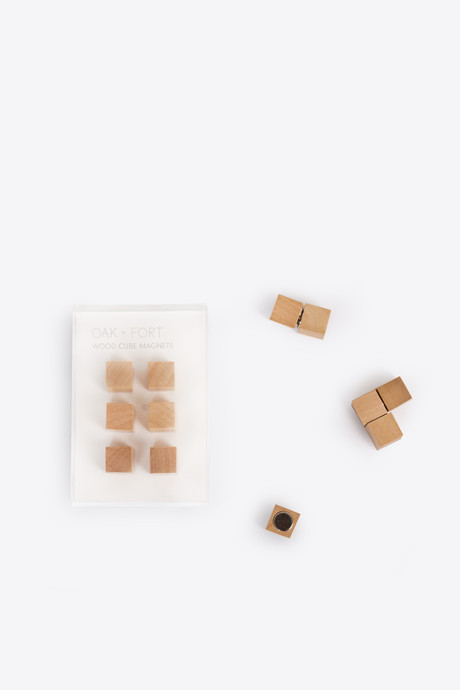 Wooden Cube Magnets 2648 Brown 3